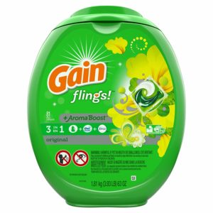 Gain Flings Laundry Detergent Pac, Original Scent, 81 Count