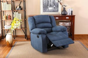 NHI Express Addison Large Contemporary Microfiber Recliner