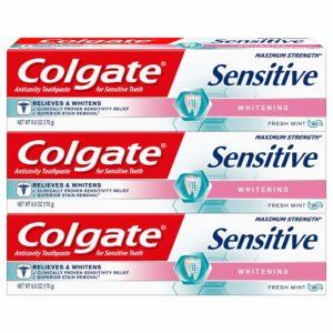 Colgate Sensitive Maximum Strength Whitening Toothpaste