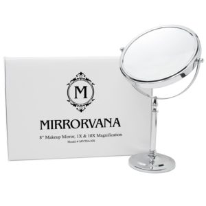 "8"" Mirrorvana Vanity Lighted Makeup Mirror with 5X Magnification"