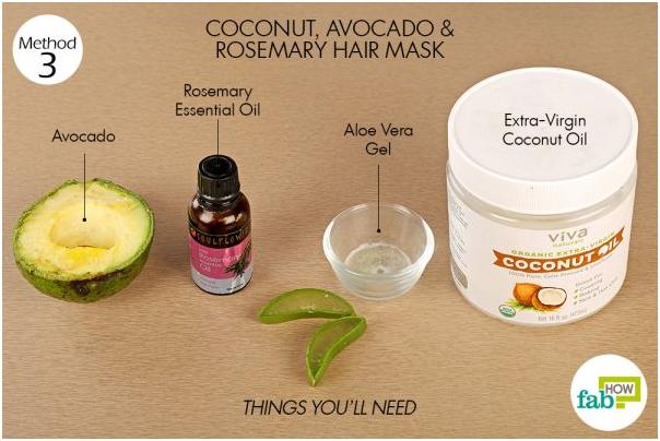DIY hair mask - cocnut, avocado, rosemary hair mask