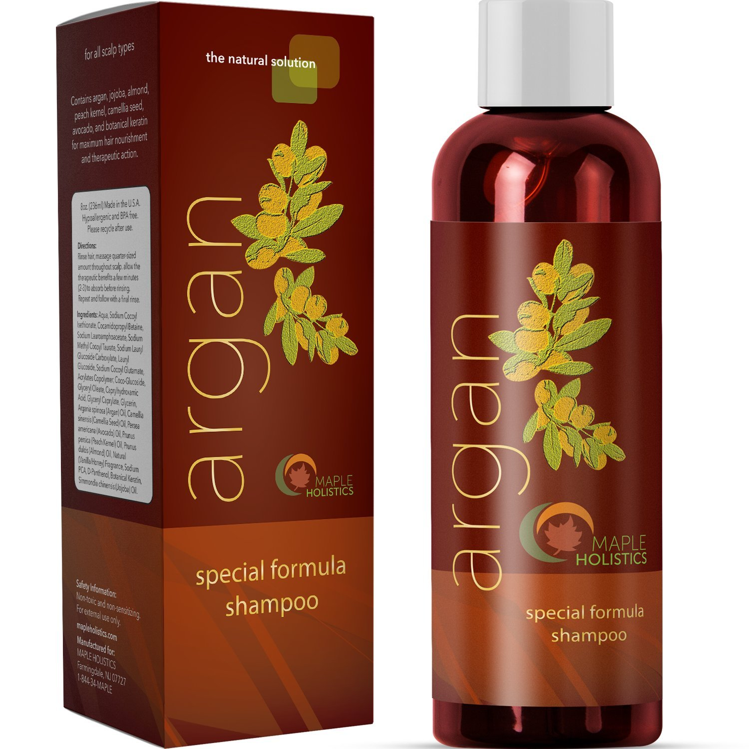 ARGAN OIL SHAMPOO FOR DRY SCALP AND HAIR LOSS