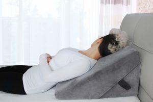 Memory foam bed wegde pillow for after surgery