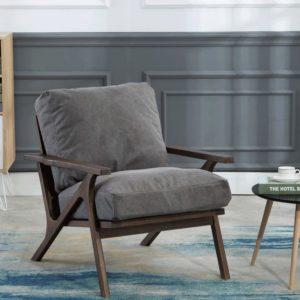 Mid-Century Living Room Fabric Chair
