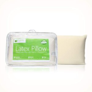 OrganicTextiles Latex Pillows that don't go flat