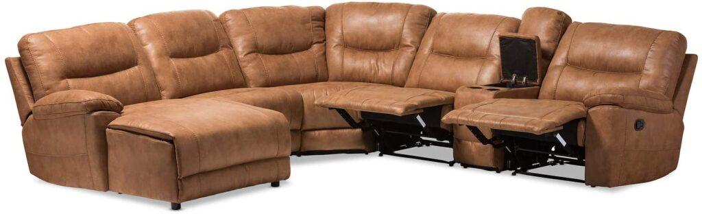 Baxton studio reclining sectional