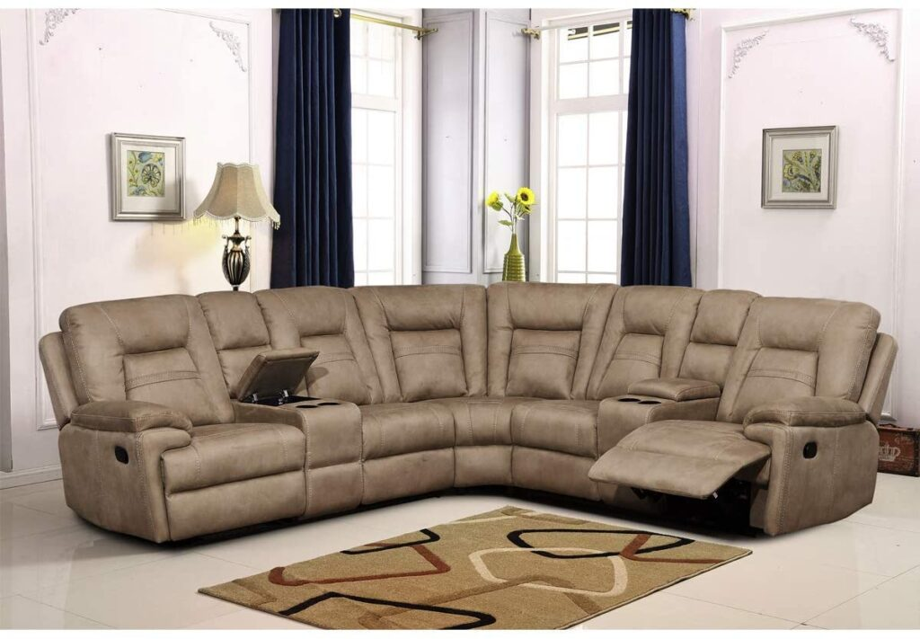 Betsy reclining sectional living room couch