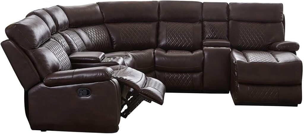 Quality manual reclining sectional with chaise by free snooze