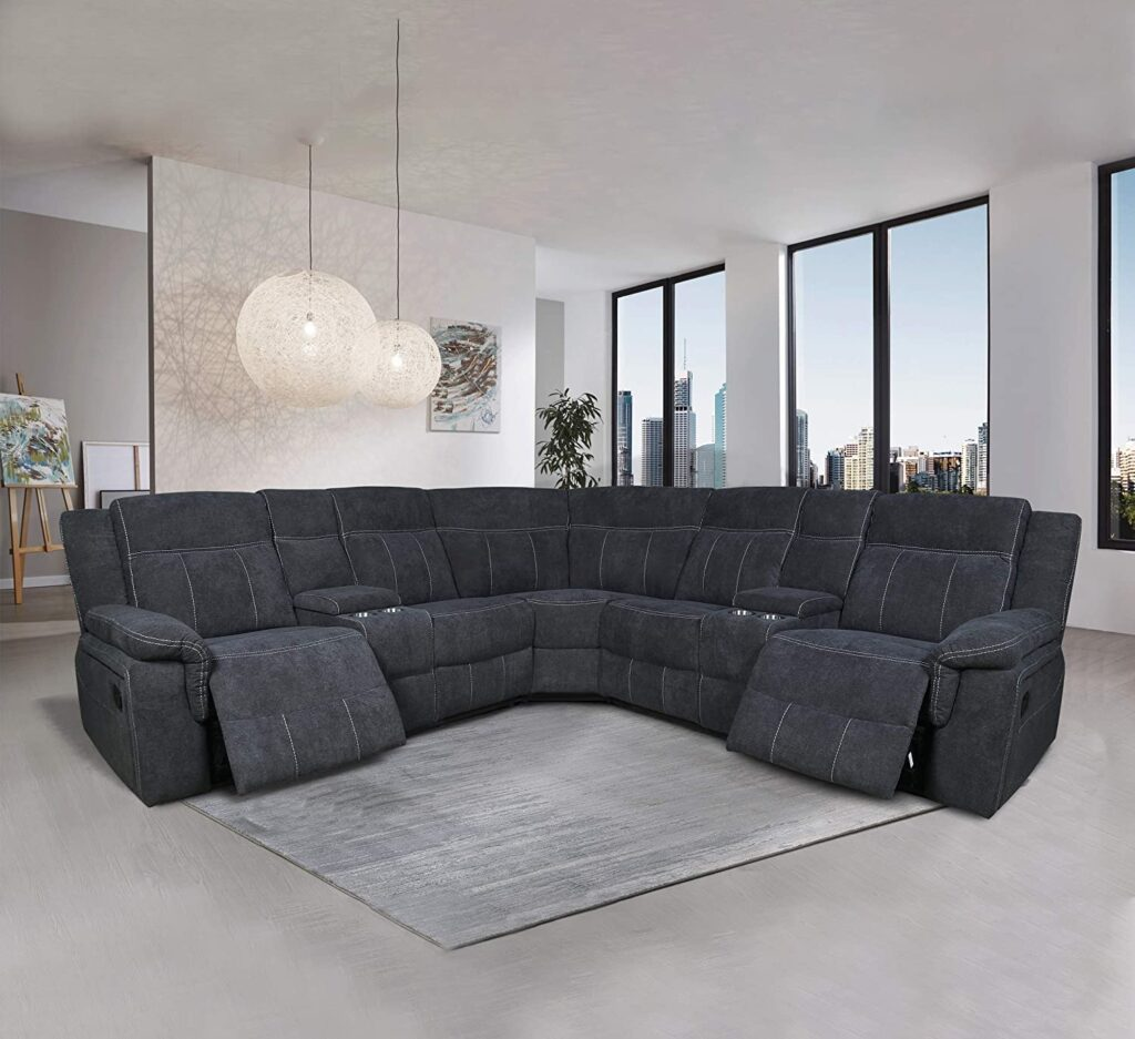 home decora power reclining sectional couches