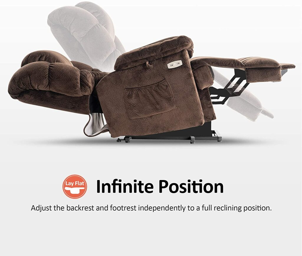 Mcombo infinite positions lay flat power recliner