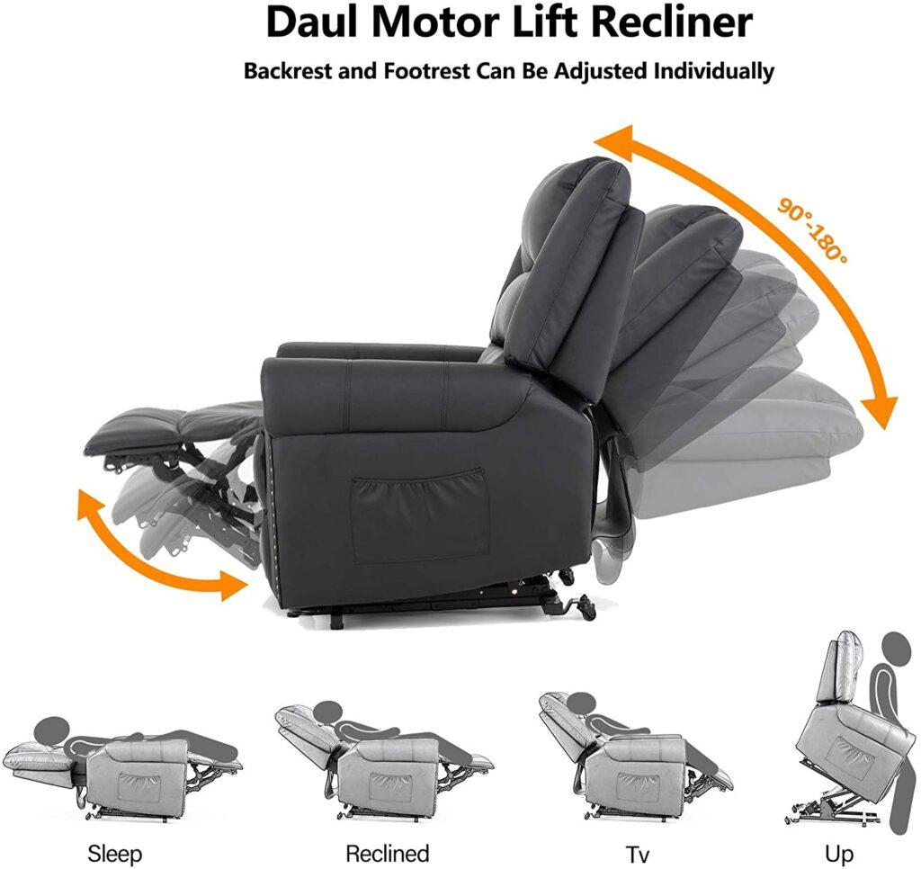 Mecor massage and heat best lay flat power recliner