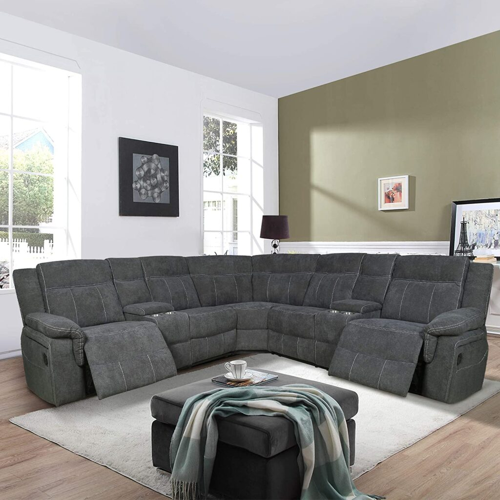 the magic home top quality reclining sectional couch